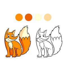 Fox coloring book vector