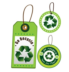 Recycling labels and tags vector