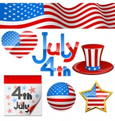 July 4th symbols vector