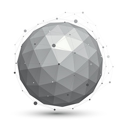 Modern digital technology ball abstract unusual vector