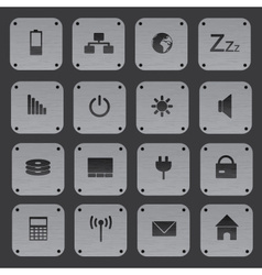 Metal texture buttons with replaceable computer vector