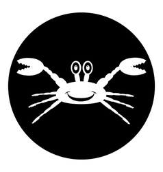 Crab button vector image