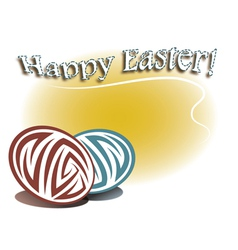 card for Easter vector image