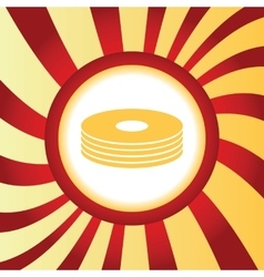 Disc pile abstract icon vector