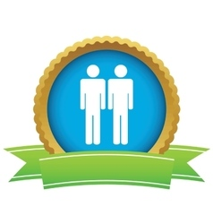 Men certificate icon vector