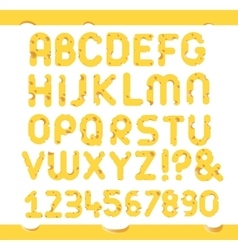 Set of cheese letters vector