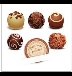 set of chocolates vector image