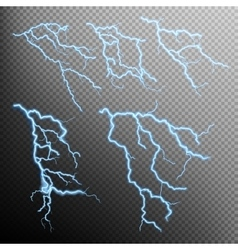 Set of lightning natural light eps 10 vector
