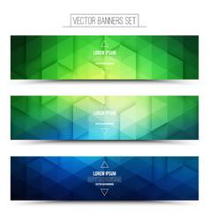 3d technology web banners vector