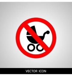 Icon no wheelchair vector