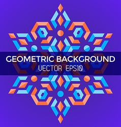 abstract geometric blue orange red jewels star vector image vector image