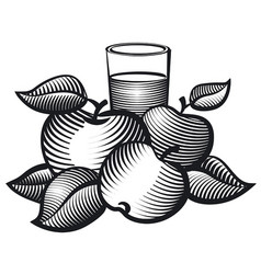 aplles juice glass vector image