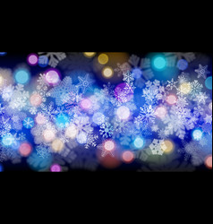 background of snowflakes vector image vector image