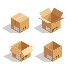 Cardboard open box vector image vector image