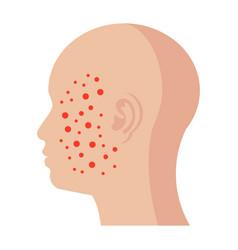 Dermatology icon vector