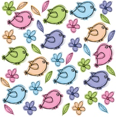 Doodle Birds vector image