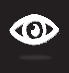 Eye icon character design vector image