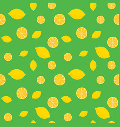 fruits lemon seamless patterns vector image