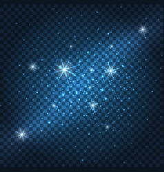 Galaxy sparkly blue background vector