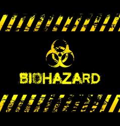 Grunge biohazard vector