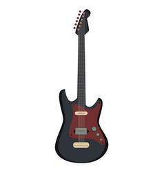 guitar electric silhouette icon rock music metal vector image vector image