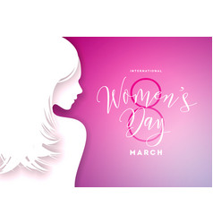 happy womens day greeting card design with sexy vector image vector image