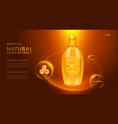 honey essential oil ads vector image