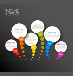 infographic horizontal dark timeline report vector image vector image