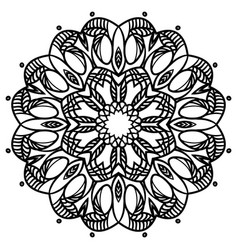 Intricate floral mandala isolated on white vector