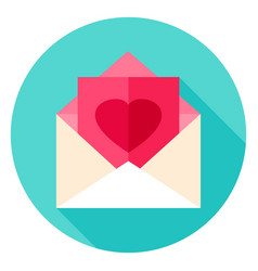Love post circle icon vector