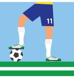 Man legs playing football vector