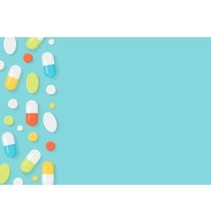 Medicine pills border background vector