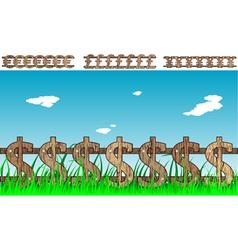 Money fence vector