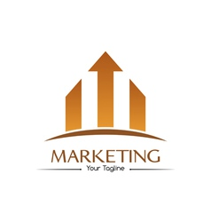 Orange marketing logo vector image