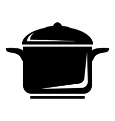 Pan for cooking icon simple style vector