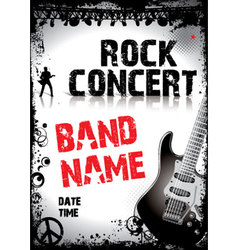 Rock-concert-poster vector image vector image