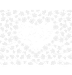 valentine s day field and heart of sakura flowers vector image vector image