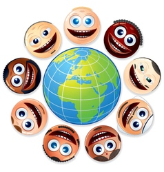 Small world people united vector
