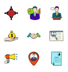 Reward icons set cartoon style vector
