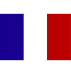 Official national flag of france vector