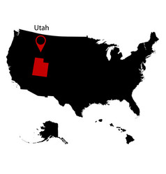 Map of the us state of utah vector