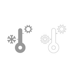 Thermometer set icon vector