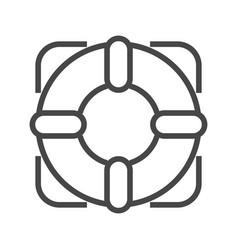 lifebuoy thin line icon vector image