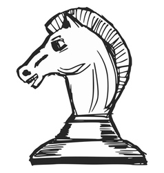 a chess figure vector image