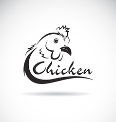 Design chicken is text vector