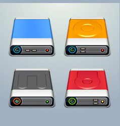 Hard drive icons vector