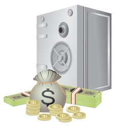 Safe and money vector