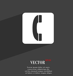 Handset icon symbol flat modern web design with vector