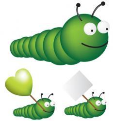 caterpillar vector image