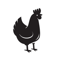 Black hen icon vector